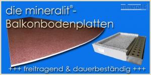 Balkonbodenplatten aus Mineralit