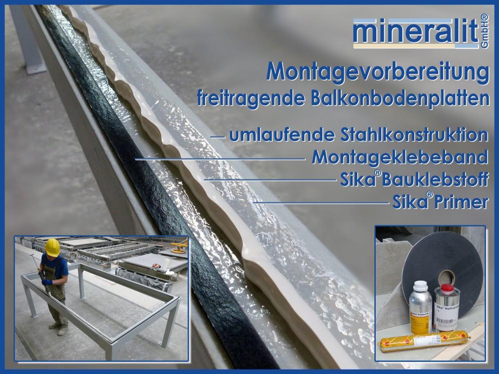 Montageanleitung mineralit Balkonbodenplatte