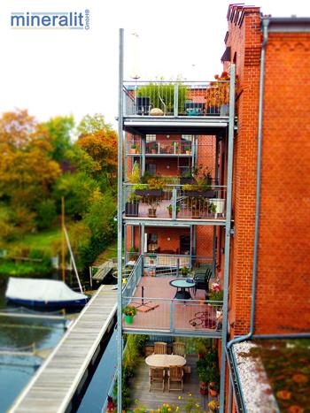 mineralit Balkon Plattenelemente für Balkone