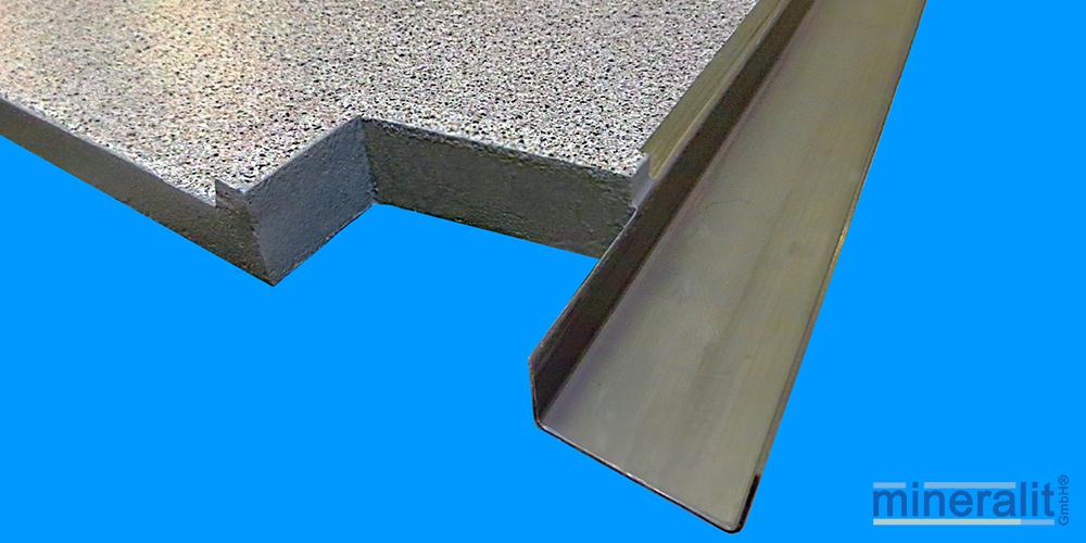 mineralit-Ausklinkungen-Polymerbeton