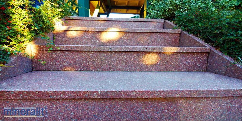 mineralit-Treppenstufen-Sanierung