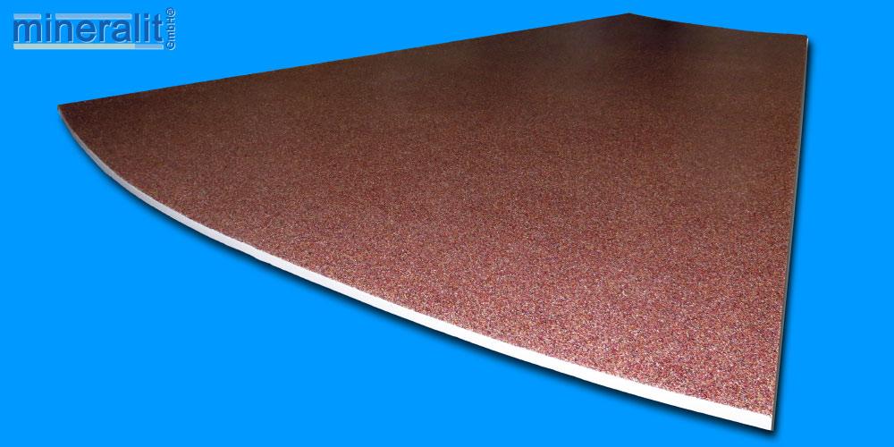 Balkonbodenplatte rund aus Polymerbeton