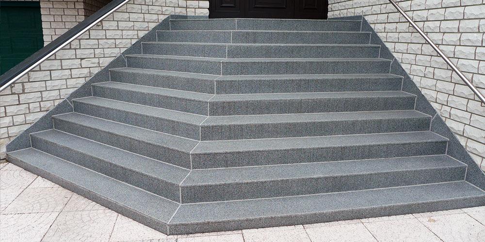 Treppensanierung mit mineralit Plattenbelag Referenzen