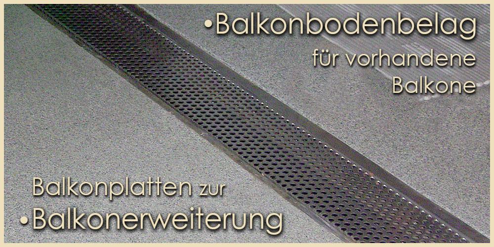 Balkonentwässerung