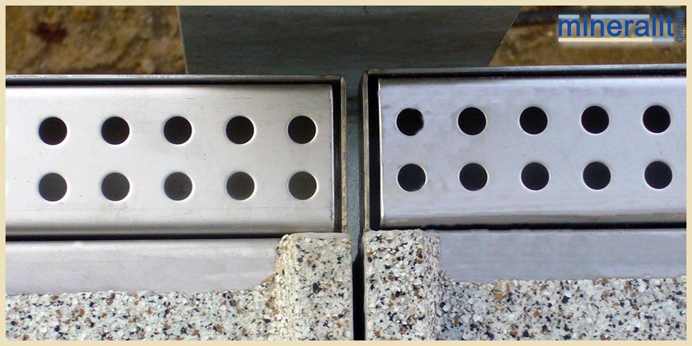 Balkonplatten mit wetterfester Entwässerungslösung