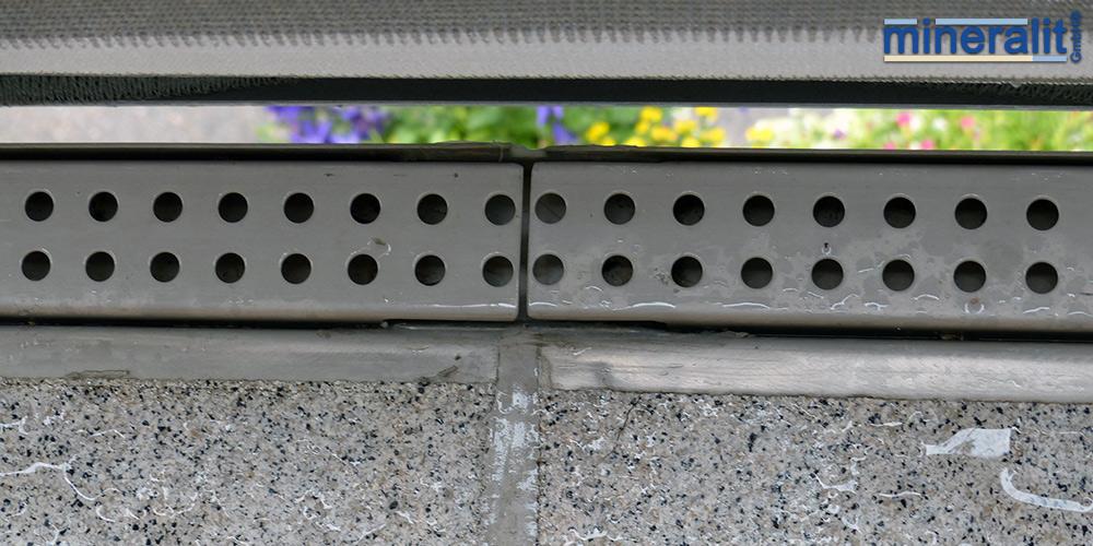 Entwässerung für Mineralit Balkonplatten