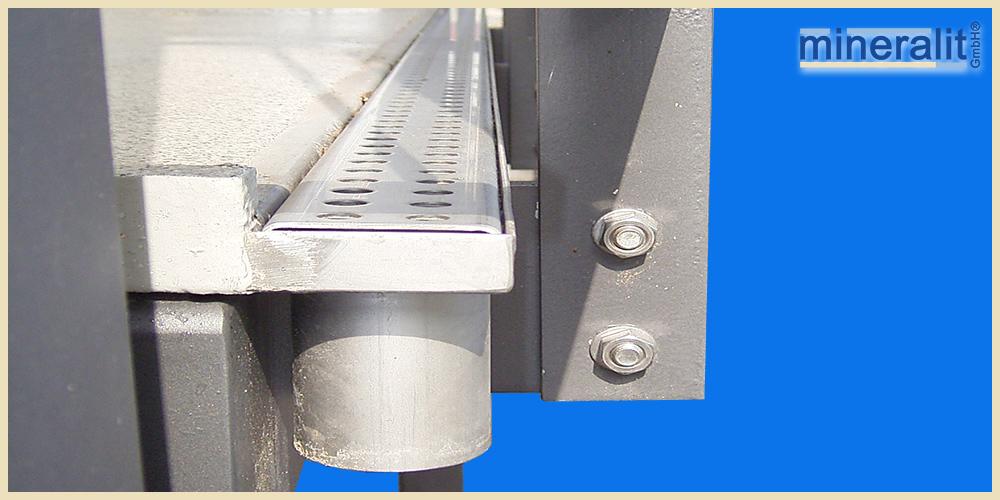 mineralit Entwässerungslösung für Balkonbodenplatten
