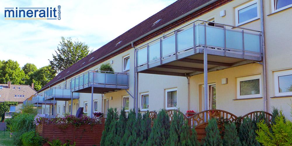 Balkonplatten aus Mineralit
