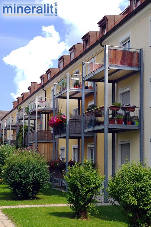 Balkonanlagen mit Balkonplatten aus Mineralit
