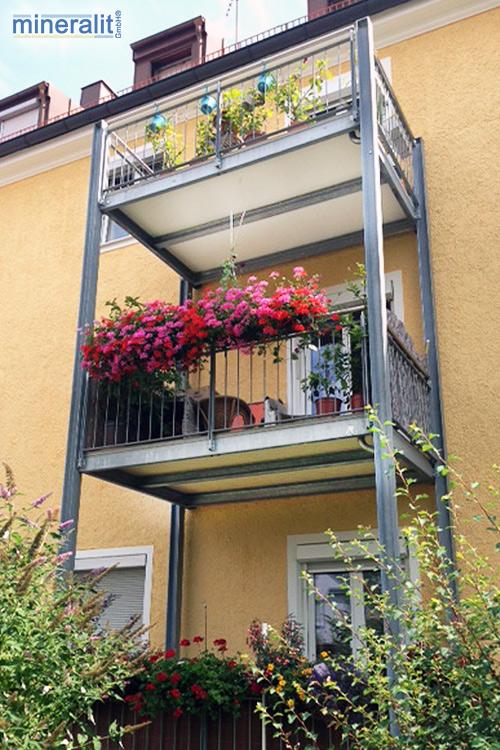 Balkonplatte aus Polymerbeton