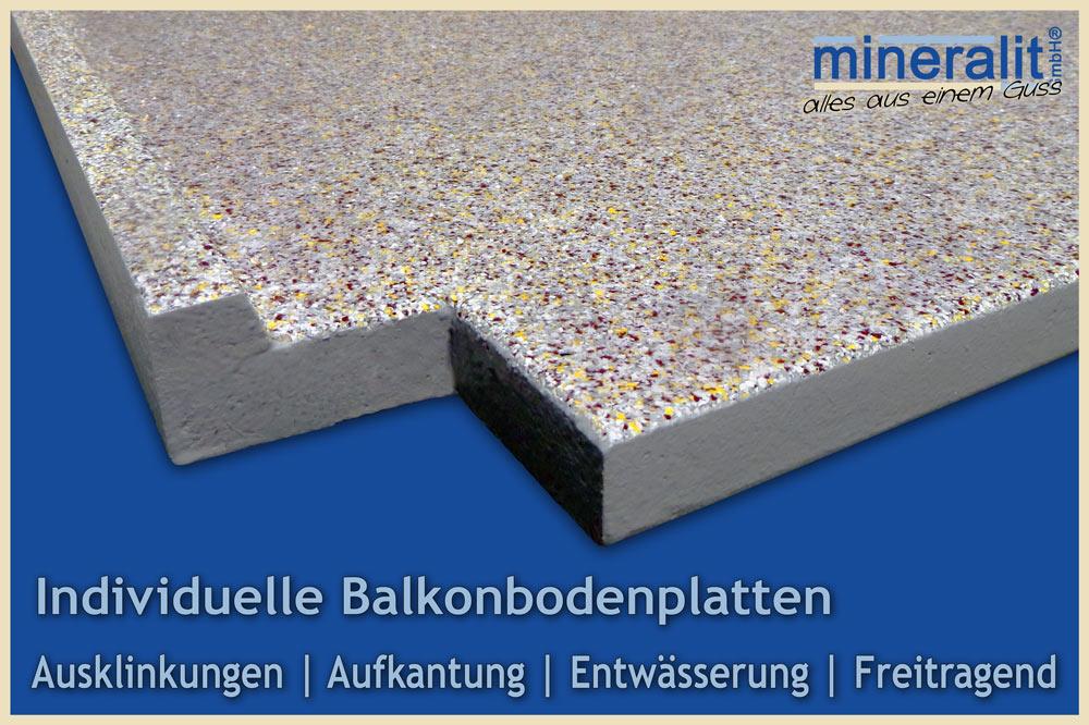 Balkonplatten aus Mineralguss
