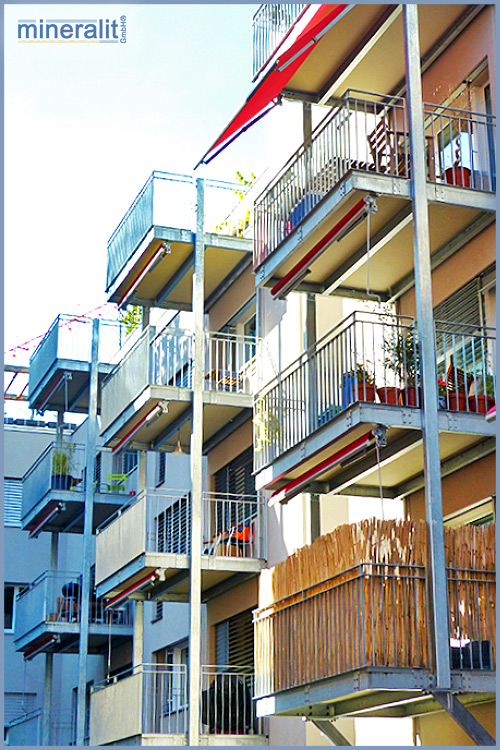 Balkone erweitern mit Mineralit Plattenelementen
