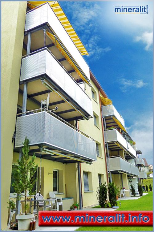 Balkonsanierung mit Anstellbalkonen