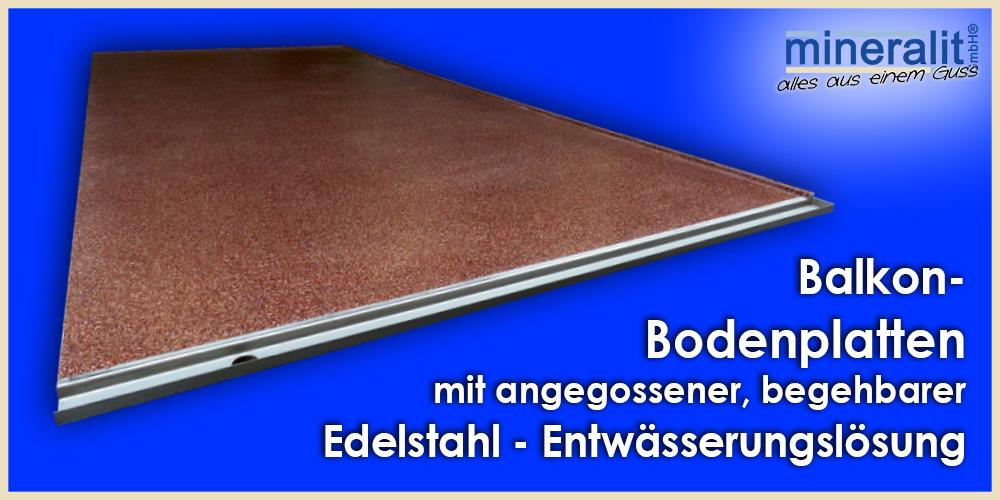 Bodenplatte aus Polymerbeton für Balkone & Terrassen