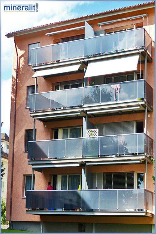 abgehängtes Balkonanlage für Neubauten