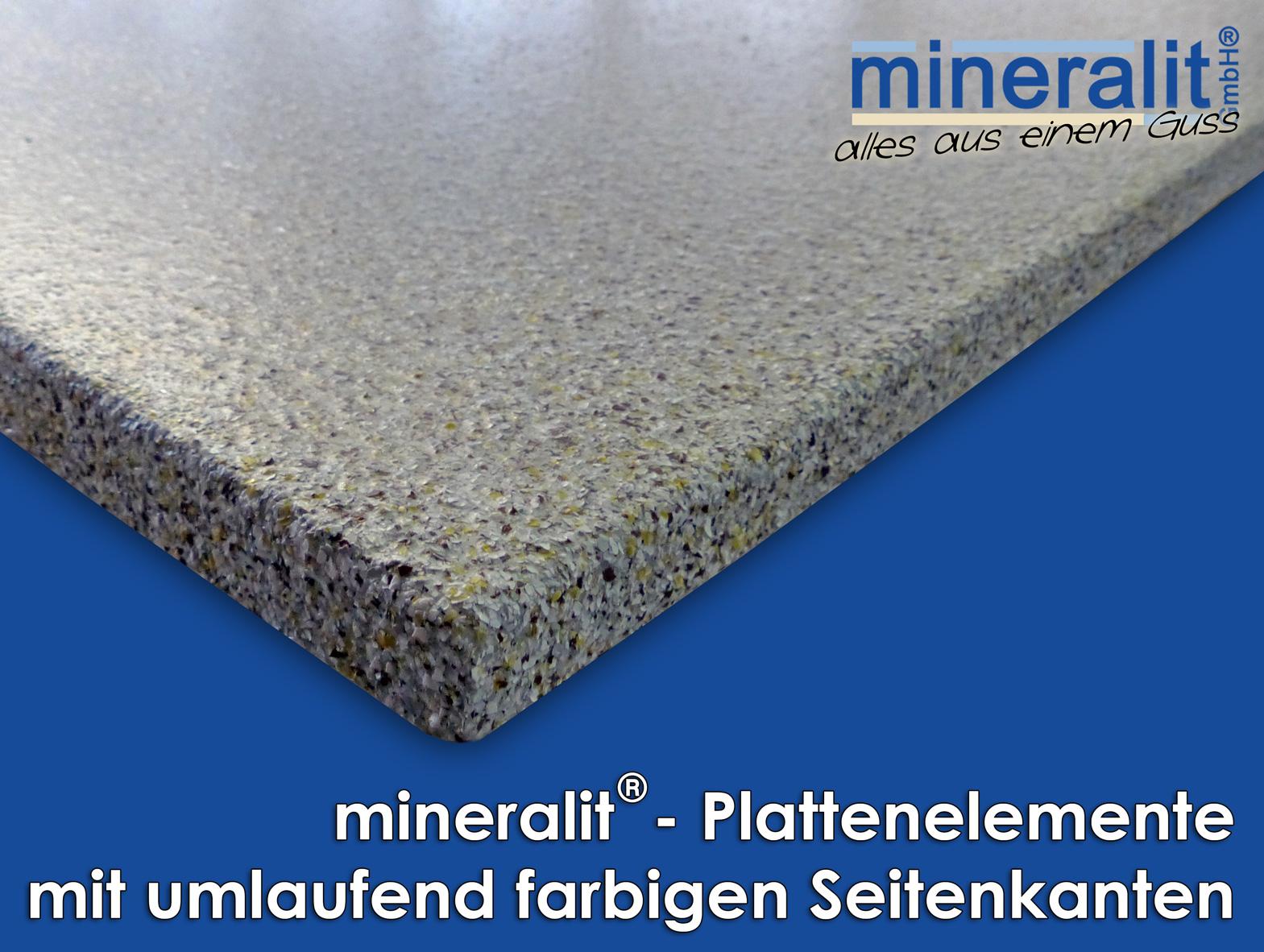 umlaufend farbige beschichtung für balkonplatten aus mineralit