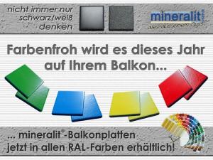 Balkonbelag aus Polymerbeton in RAL-Farben