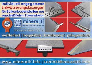 Entwässerungslösungen für Balkonplatten aus Polymerbeton