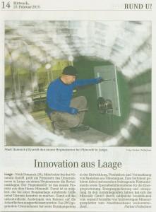 Zeitungsartikel zum Anlagenbau bei mineralit