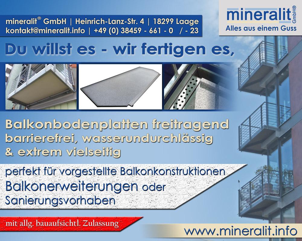polymerbeton balkonbelag wasserdicht mineralit mineralgusswerk laage gmbh. Black Bedroom Furniture Sets. Home Design Ideas