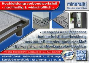 Terrassenbodenplatten aus Polymerbeton