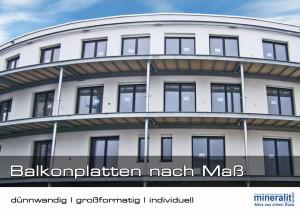 individuell gebogene Balkonplatten für Laubengang