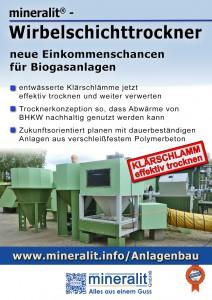 mineralit Trocknungsanlage zur Trocknung von Klärschlamm