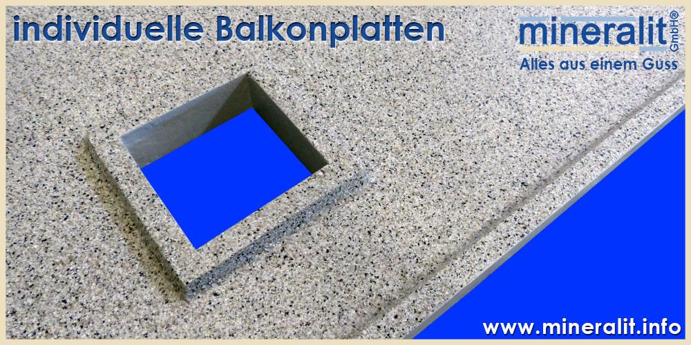 individuelle balkonplatten aus polymerbeton mineralit. Black Bedroom Furniture Sets. Home Design Ideas