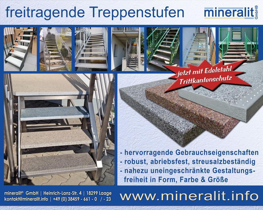 Treppenstufen mit Beispielen von Kunden
