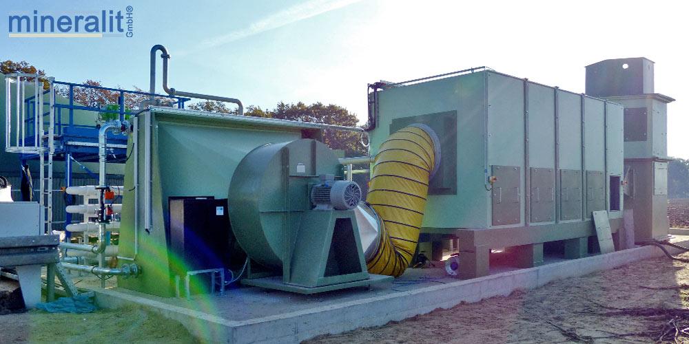 Trocknungsanlage an Biogasanlage