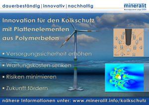 Offshorewindkraftanlagen mit Kolkschutz aus Polymerbeton