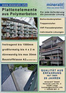 Mineralgussplatten: Plattenelemente aus Polymerbeton