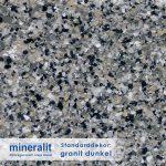 Standard Dekor für Plattenelemente aus Mineralit - granit dunkel