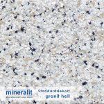Standard Dekor für Plattenelemente aus Mineralit - granit hell