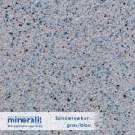 Sonderdekor für Plattenelemente aus Mineralit - lichtgrau/blau