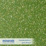 Sonderdekor für Plattenelemente aus Mineralit - grün/braun