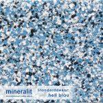 Standard Dekor für Plattenelemente aus Mineralit - hell blau