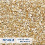Standard Dekor für Plattenelemente aus Mineralit - hellbraun