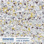 Standard Dekor für Plattenelemente aus Mineralit - Salz und Pfeffer