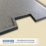 Mineralit Randbeschichtungen für Balkonbodenplatten - Sonderfarbe Anthrazitgrau