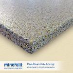 Mineralit Randbeschichtungen für Balkonbodenplatten - Sonderausführung umlaufend im Oberflächendekor