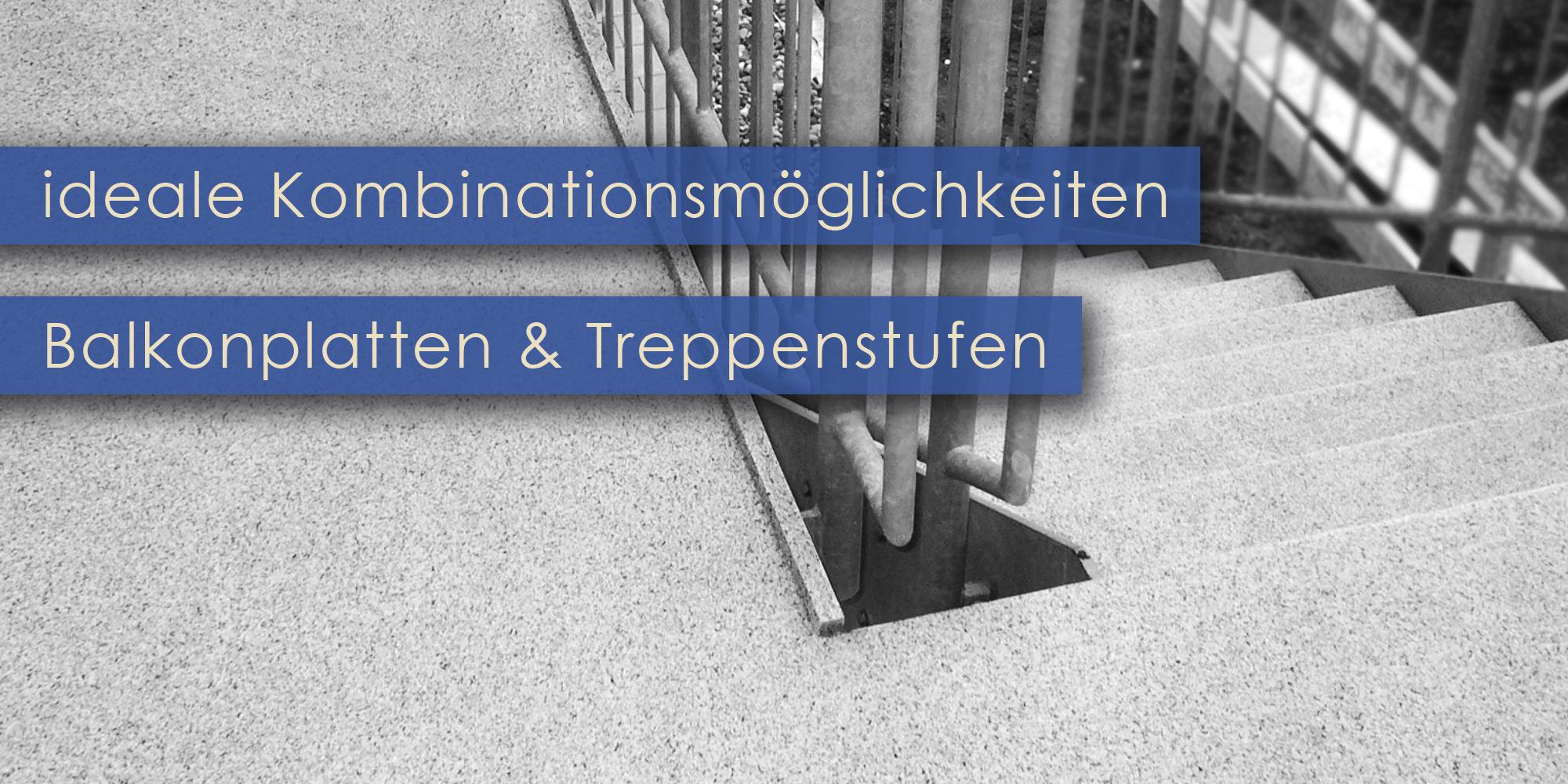 Balkonböden und Treppenstufen im Kombisystem