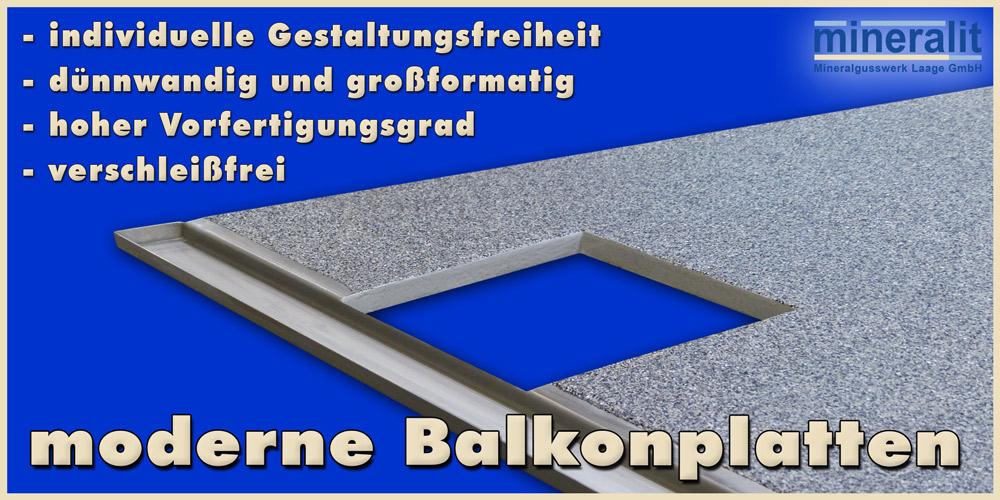 moderne Balkonplatten aus Mineralit