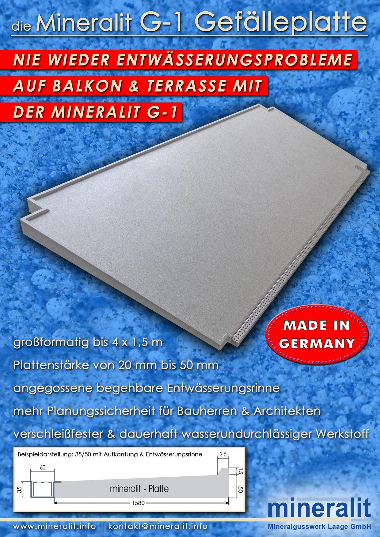 Mineralit G-1 Gefälleplatte