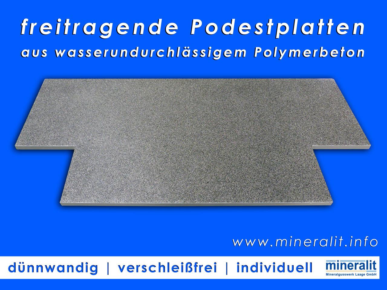 individuelle Podestplatten für den Eingangsbereich