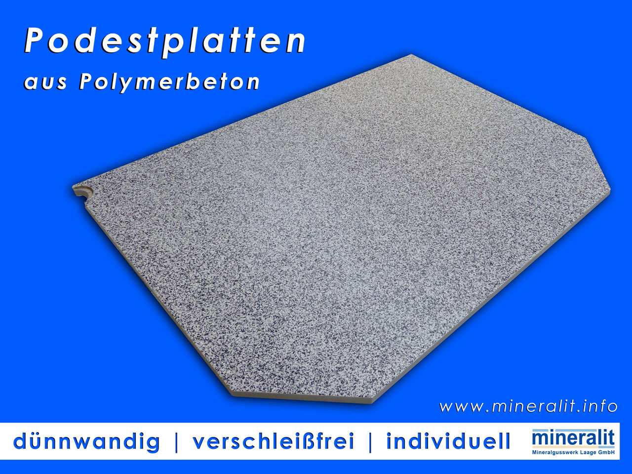 Podestplatten aus Polymerbeton