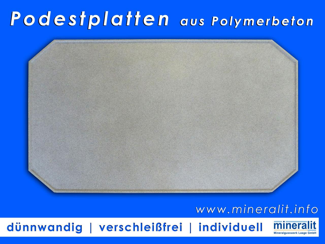 gro formatige podestplatten aus verschlei freiem polymerbeton. Black Bedroom Furniture Sets. Home Design Ideas