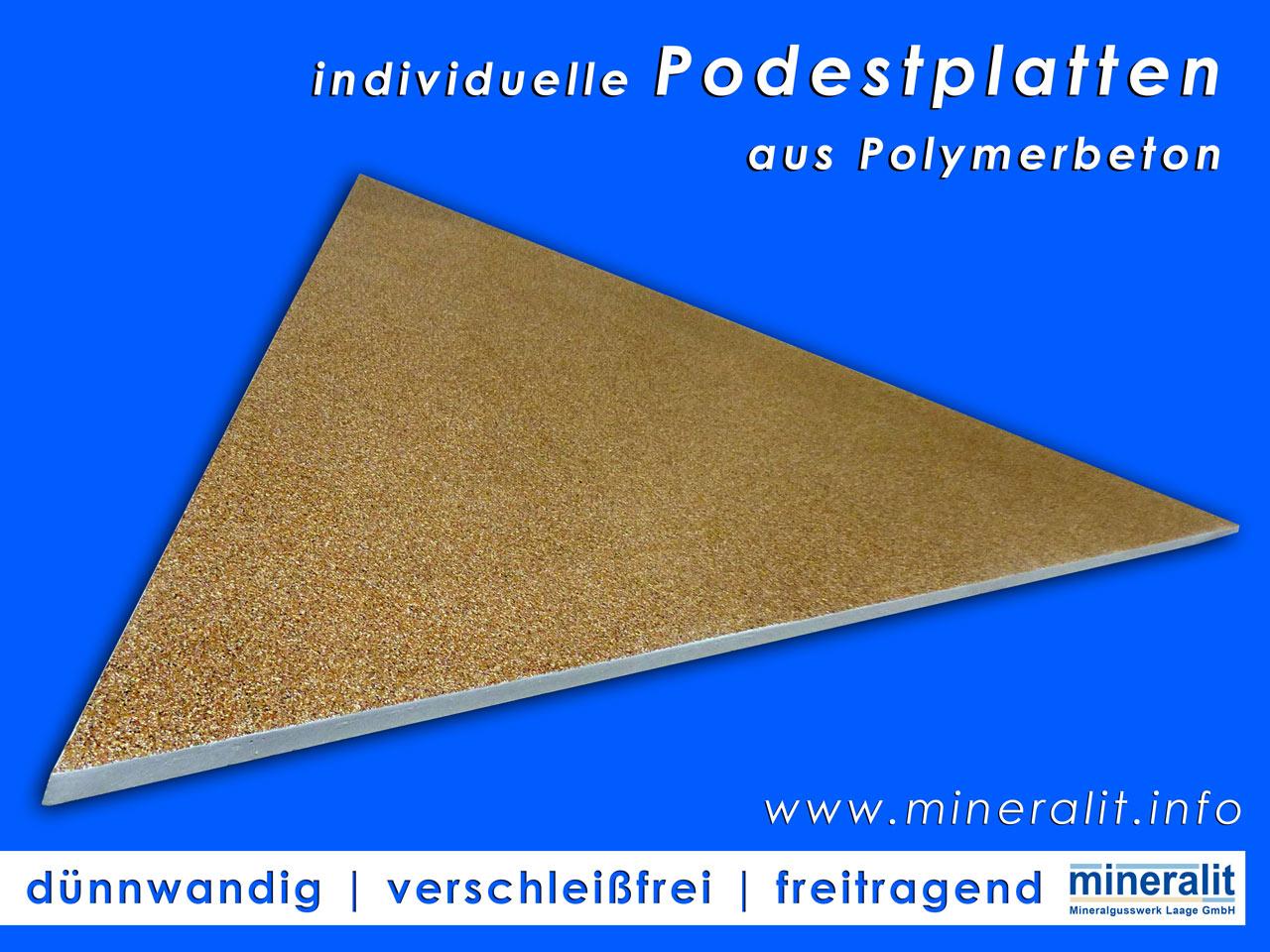 Podestplatten vergleichbar mit einem Naturstein wie Granit oder Marmor