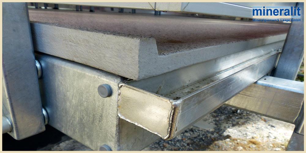 Balkonboden freitragend aus Polymerbeton