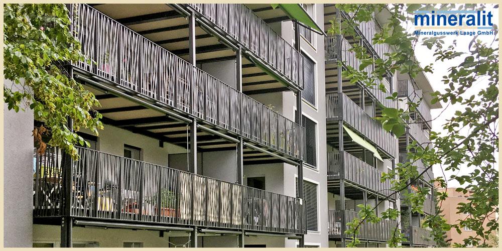 Balkonplatten verschleißfest, freitragend und großformatig